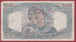 "1000 Francs ""Minerve Et Hercule"" Du 21/02/1946.J----VG/TTB---ALPH .W.501 - 1871-1952 Antichi Franchi Circolanti Nel XX Secolo"
