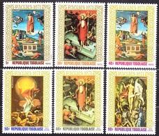 TOGO 1971, COMPLETE SET, MH, Michel 856-861 PAINTING - RAFFAEL, EL GRECO, GRUNEWALD. - Sin Clasificación
