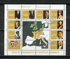 AJMAN STATE - CINDERELLA - Rois Et Presidents Du Marchè Commun - SHEET. - Celebrità