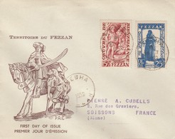 LETTRE. FEZZAN. FDC  20 7 1950.  AU PROFIT DES OEUVRES DE BIENFAISANCE. N° 54/55. SEBHA - Covers & Documents
