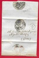 PREFILATELICA - PONTIFICIO - 1863 - Lettera Con Testo CANINO ORTE - Gendarmeria Pontificia - Italy