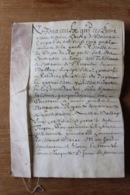 Cahier En Parchemin Troyes  1661  Jardin Apres Du Beffroi Autographe - Diploma & School Reports