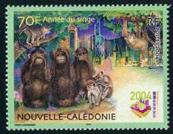 NOUV.-CALEDONIE 2004 - Yv. 910 **   Faciale= 0,59 EUR - Année Lunaire Chinoise Du Singe. HongKong'2004  ..Réf.NCE25554 - New Caledonia