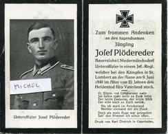Ardennes.SAINT-LAMBERT.1940.sterbebild Avis Décès Soldat Allemand - 1939-45