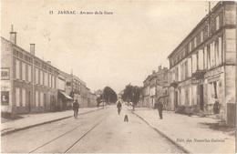 """Dépt 16 - JARNAC - Avenue De La Gare - (Édit. Des Nouvelles Galeries, N° 11) - Cachet """"GOUVERNEMENT MILITAIRE DE PARIS"""" - Jarnac"""