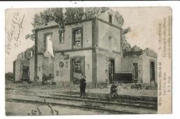 CPA - Cartes Postale-France- Sillery -Sa Gare Après Le Bombardement En 1914-15-1916 VM11598 - Sillery