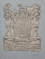 Ex-libris Héraldique XVIIIème - CHARLES VISCOUNT BRUCE - Ex-libris