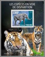TOGO 2019 MNH Elephant Elefant Endangered Species S/S - OFFICIAL ISSUE - DH2003 - Eléphants