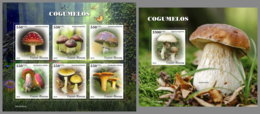 GUINEA BISSAU 2019 MNH Mushrooms Pilze Champignons M/S+S/S - OFFICIAL ISSUE - DH2003 - Funghi