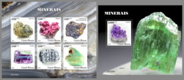GUINEA BISSAU 2019 MNH Minerals Mineralien Mineraux M/S+S/S - OFFICIAL ISSUE - DH2003 - Minerali