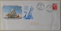Enveloppes Prêt à Poster Voilier Ecole De La Marine Nationale Côtre Dundee Le Mutin Oblitération Brest Armée 1 10 2008 - Postwaardestukken