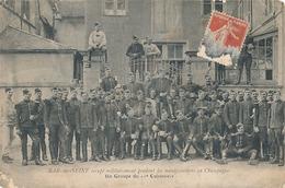 BAR SUR SEINE - OCCUPE MILITAIREMENT PENDANT LES MANIFESTATIONS EN CHAMPAGNE - UN GROUPE DU 11e CUIRASSIERS (DANS L'ETAT - Bar-sur-Seine
