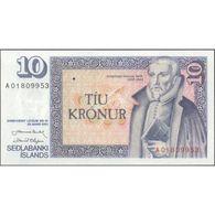 TWN - ICELAND 48a1 - 10 Kronur L.1961 (1981) Prefix A 01 - Signatures: Nordal & Olafsson UNC - IJsland