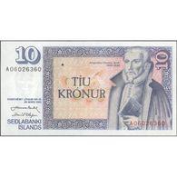 TWN - ICELAND 48a1 - 10 Kronur L.1961 (1981) Prefix A 06 - Signatures: Nordal & Olafsson UNC - IJsland
