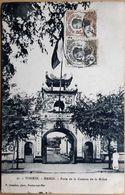 VIETNAM HANOI PORTE DE LA MILICE CIRCULEE  CACHET ET TIMBRE  TRES BON ETAT - Viêt-Nam