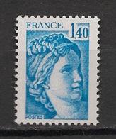 France - 1977 - N°Yv. 1975b - Sabine 1f40 Bleu - Sans Phosphore - Signé Calves - Neuf Luxe ** / MNH / Postfrisch - Plaatfouten En Curiosa