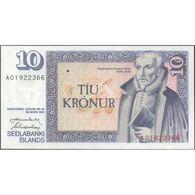 TWN - ICELAND 48a4 - 10 Kronur L.1961 (1981) Prefix A 01 - Signatures: Nordal & Hjartarson UNC - IJsland