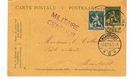 Carte Guerre  1914/18   Cachet Censure Militaire  Sur Carte 1914 - [OC1/25] General Gov.