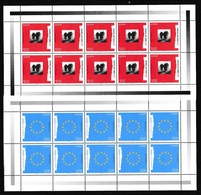 1995 Germania Germany EUROPA CEPT EUROPE 10 Serie Di 2v. MNH** In 2 Minifogli 2 Minisheets - 1995