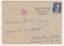 Enveloppe D'Allemagne  Vers La Belgique  1944   Censure - WW II