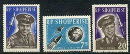 ALBANIA 1963 Vostok 3 Space Flight Perforated Set MNH / **  Michel 727-29 - Albanie