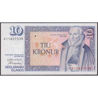 TWN - ICELAND 48a4 - 10 Kronur L.1961 (1981) Prefix A 11 - Signatures: Nordal & Hjartarson UNC - IJsland