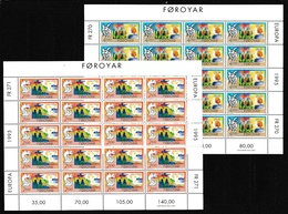 1995 FAROER Faroe EUROPA CEPT EUROPE 20 Serie Di 2v. MNH** In Minifoglio Minisheet - 1995