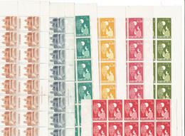 VIET NAM SUD - FEUILLES DE 50 TP XX - N°89/93 - 102/103 - 1958 - Vietnam