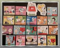 Japon 2014 6682 6691 + 6692 6701 Snoopy Peanuts Ally Brown Parapluie Wood Stock - 1989-... Imperatore Akihito (Periodo Heisei)