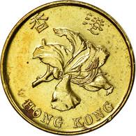 Monnaie, Hong Kong, Elizabeth II, 10 Cents, 1997, TB+, Brass Plated Steel, KM:66 - Hong Kong