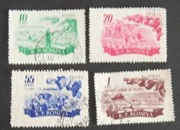 """ROUMANIE YT 1414/1417 OBLITÉRÉS"""" PRODUCTION AGRICOLE"""" ANNÉE 1955 - 1948-.... Repúblicas"""
