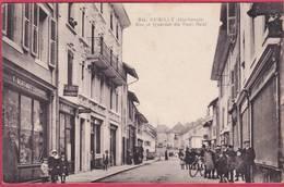 CPA 74 RUMILLY Rue Et Quartier Du Pont Neuf ( Magasin Bertinotti - Rumilly