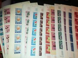 VIET NAM SUD - FEUILLES DE 25 TP XX COINS DATES - N°301/307 - 310/313 - 318 - 1966 - Vietnam