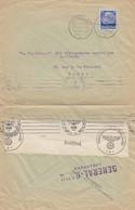 LETTRE. LUXEMBOURG. 6 3 41. GENERAL-BANK POUR PARIS. BANDE CENSURE ALLEMANDE - 1940-1944 German Occupation