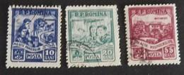 ROUMANIE YT 1400/1402 OBLITÉRÉS ANNÉE 1955 - 1948-.... Repúblicas