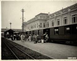 TONKIN VILLE HANOI GARE TRAIN WAGONS 4 EME CLASSE INDOCHINE INDOCHINA 23*17CM Fonds Victor FORBIN 1864-1947 - Lieux