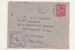 Enveloppe D' D'Egypte Vers L'Angleterre  1940 - Storia Postale
