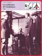 """La Conférence De Casablanca. Américains Et Anglais. Bombardements Intensifs De L""""Allemagne ... Seconde Guerre Mondiale. - Histoire"""