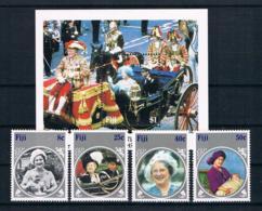 Fiji 1985 Königin Mi.Nr. 525/28 Kpl. Satz + Block 6 ** - Fiji (1970-...)