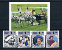 Pitcairninsel 1985 Königin Mi.Nr. 261/64 Kpl. Satz + Block 8 ** - Briefmarken