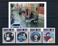 Salomoninseln 1985 Königin Mi.Nr. 545/48 Kpl. Satz + Block 16 ** - Salomoninseln (Salomonen 1978-...)