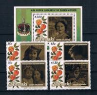 Aitutaki 1985 Königin Mi.Nr. 559/62 Kpl. Satz + Block 56 ** - Aitutaki