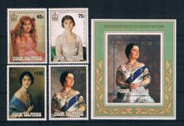 Cookinseln 1985 Königin Mi.Nr. 1063/66 Kpl. Satz + Block 156 ** - Cookinseln