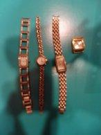 Lot De  4 Montres  (dont 3 Avec Leur Bracelet) - Montres Modernes