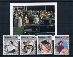 Jamaica 1985 Königin Mi.Nr. 607/10 Kpl. Satz + Block 26 ** - Jamaica (1962-...)