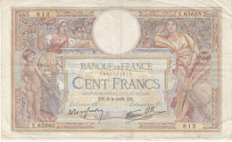 Billet 100 F L. O. Merson Du 6-4-1939 FAY 25.45 Alph. X.65685 - 1871-1952 Antichi Franchi Circolanti Nel XX Secolo