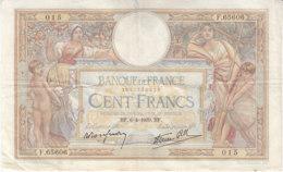Billet 100 F L. O. Merson Du 6-4-1939 FAY 25.45 Alph. F.65606 - 1871-1952 Antichi Franchi Circolanti Nel XX Secolo