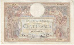 Billet 100 F L. O. Merson Du 30-3-1939 FAY 25.44 Alph. N.65321 - 1871-1952 Antichi Franchi Circolanti Nel XX Secolo