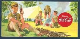 Publicité Coca-Cola Buvard - Scouts - Scoutisme