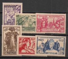 Martinique - 1937 - N°Yv. 161 à 166 - Exposition Internationale - Série Complète - Neuf * / MH VF - Nuevos